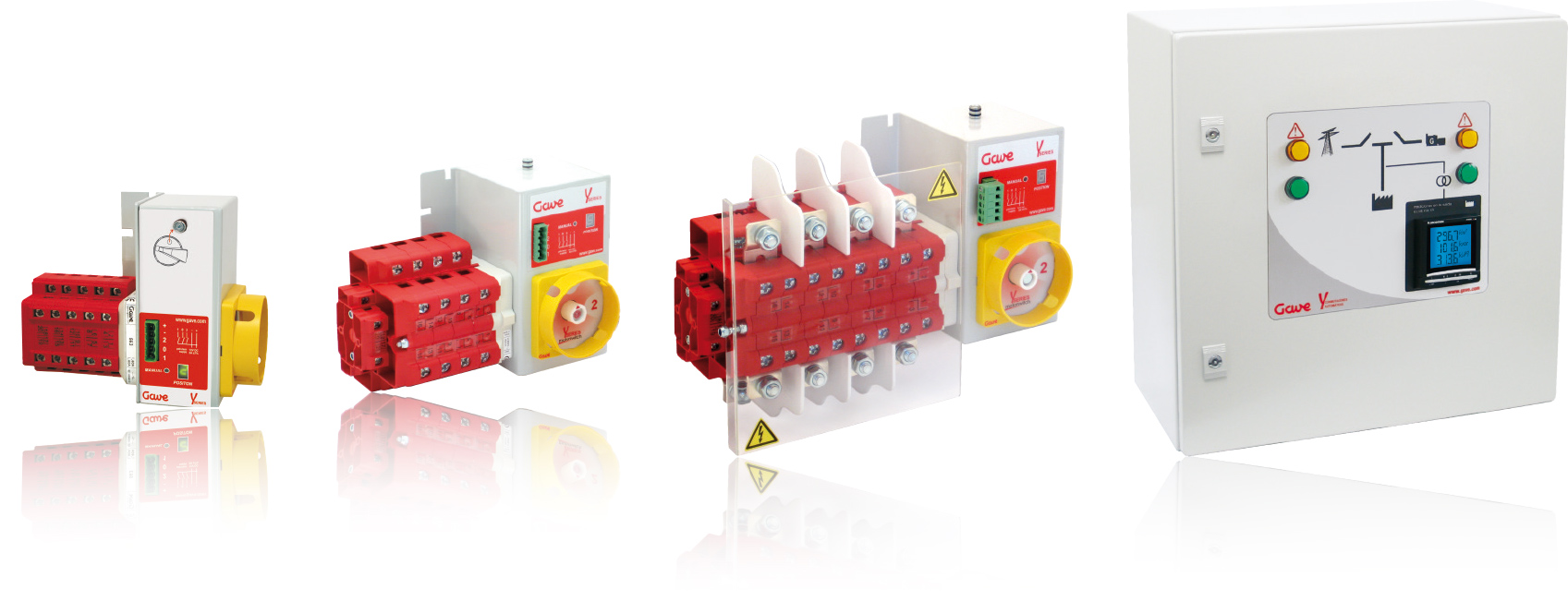 range overview of motorised changeover and automatic transfer switches